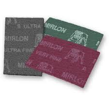 Manta Abrasiva Mirlon 152mm x 229 mm Very Fine Vermelho P360 MIRKA Caixa com 20