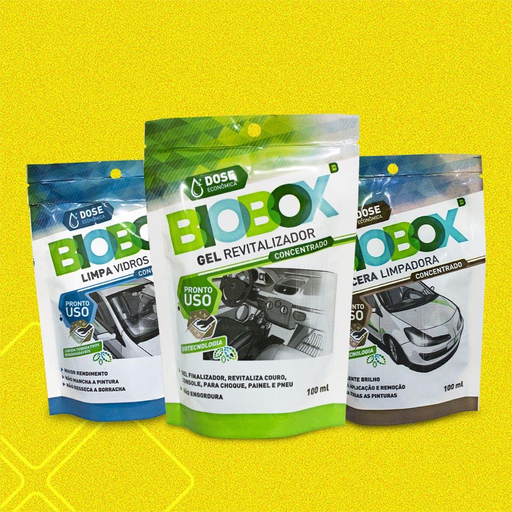 Pack 1 Cera Limpadora - 1 Gel Revitalizador - 1 Limpa Para-Brisa BIOBOX RADIEX