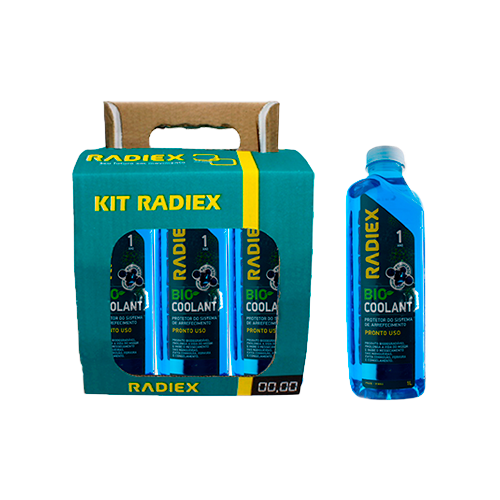 Pack 6 Bio Coolant Pronto Uso Azul RADIEX