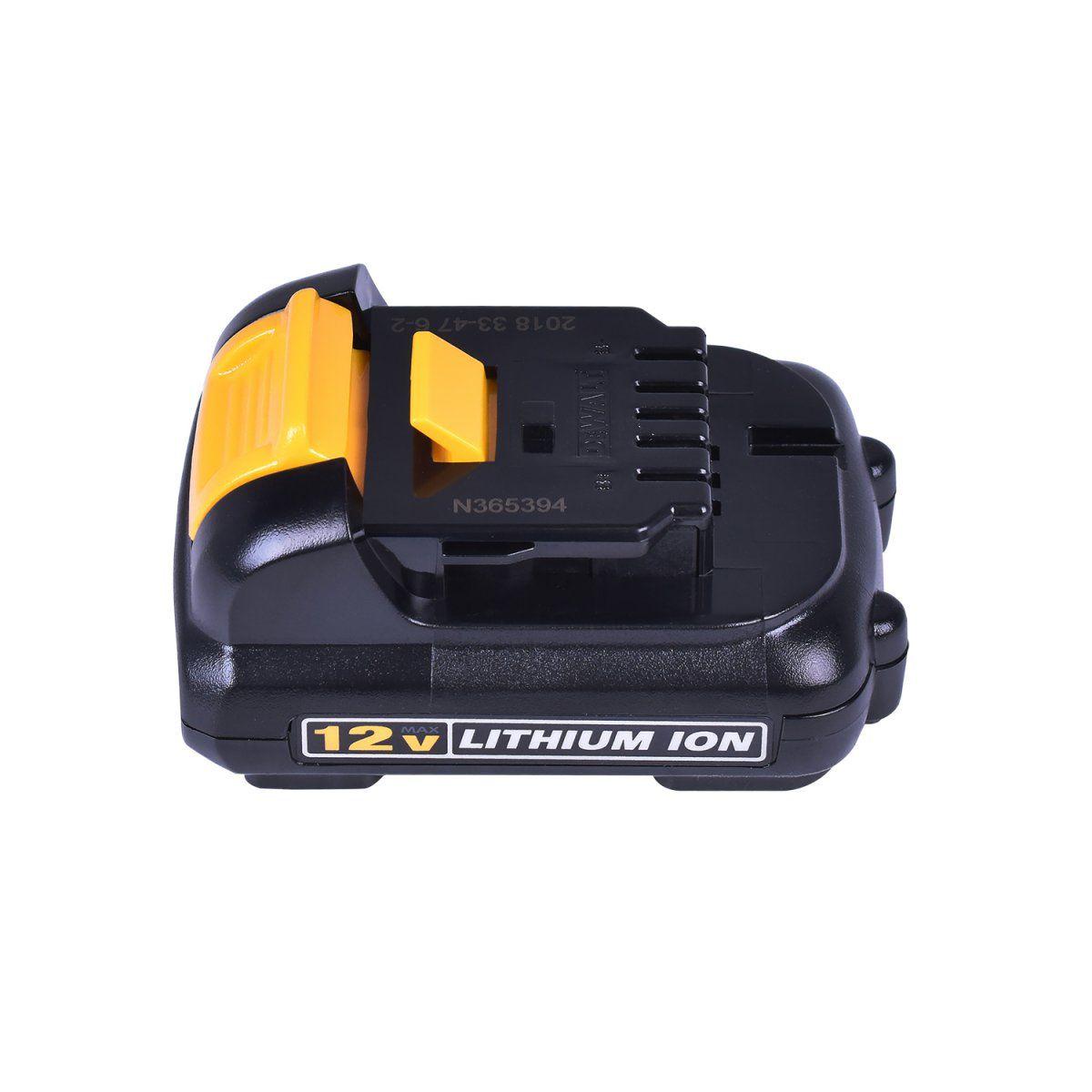 Parafusadeira/Furadeira 3/8 (10mm) com Carregador Bivolt, 2 Baterias 12V MAX* 1,3 Ah e Bolsa para transporte DEWALT