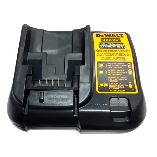 Parafusadeira/Furadeira 3/8 (10mm) com Carregador Bivolt e Bateria 12V MAX* 1,3 Ah DEWALT