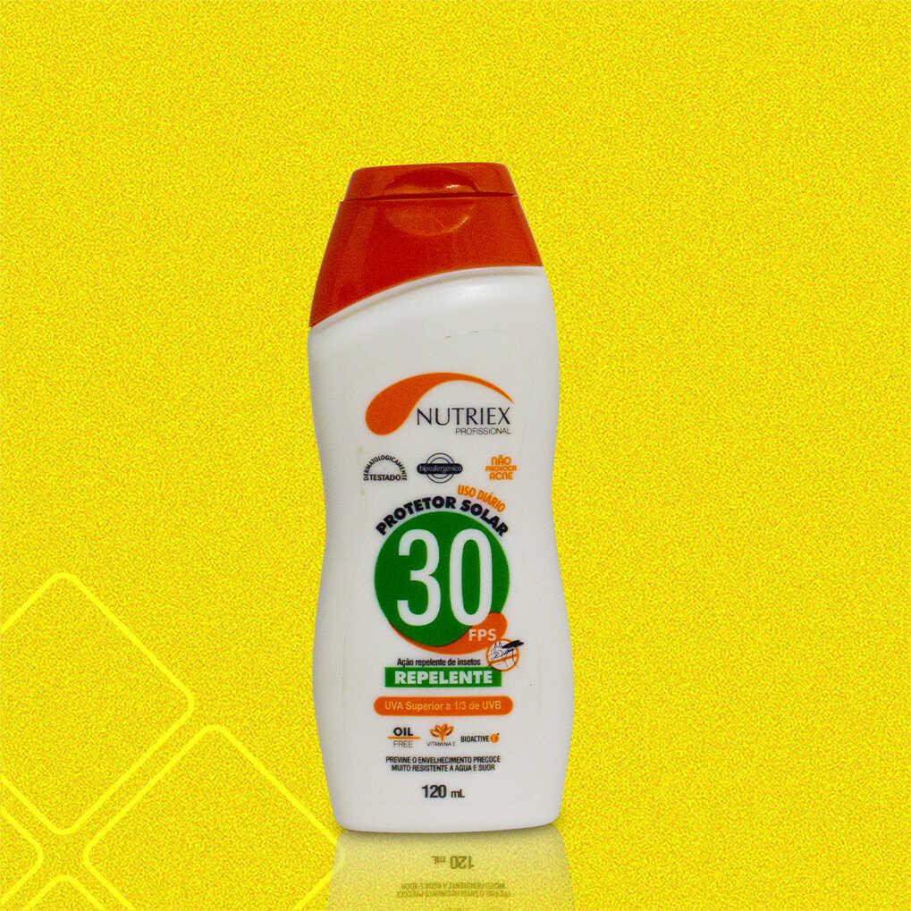Protetor Solar Repelente FPS 30 Profissional NUTRIEX 120ml
