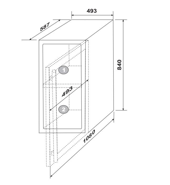Adega Dual Zone 34 Garrafas Elettromec