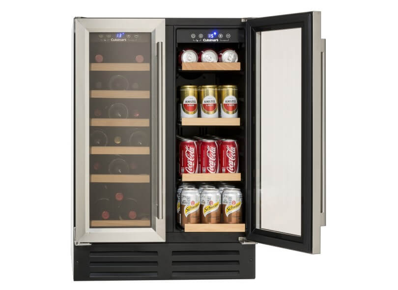 Adega e Frigobar Cuisinart Prime Cooking 19 Garrafas e 58 Latas Compressor Dual Zone