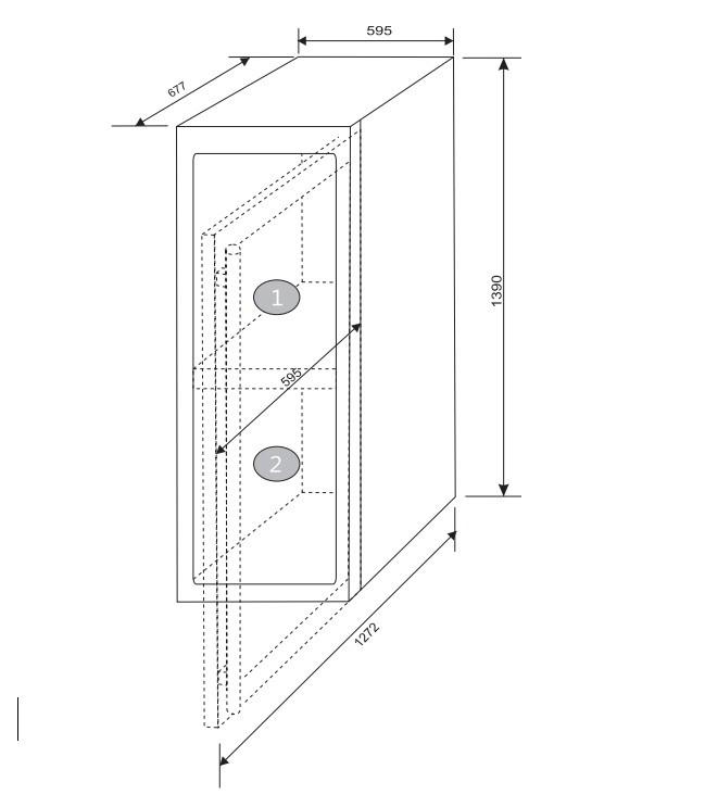 Adega 110 Garrafas Dual Zone Built-in Elettromec