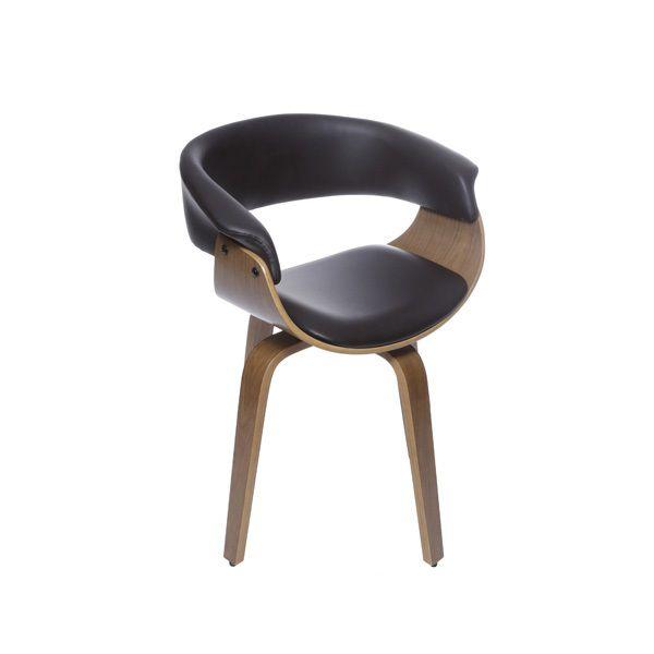 Cadeira Elba Giratória Base Madeira OR Design