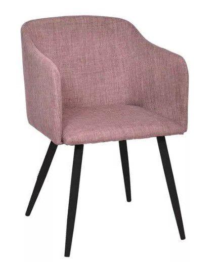 Cadeira Charla com Braço Base Escura OR Design