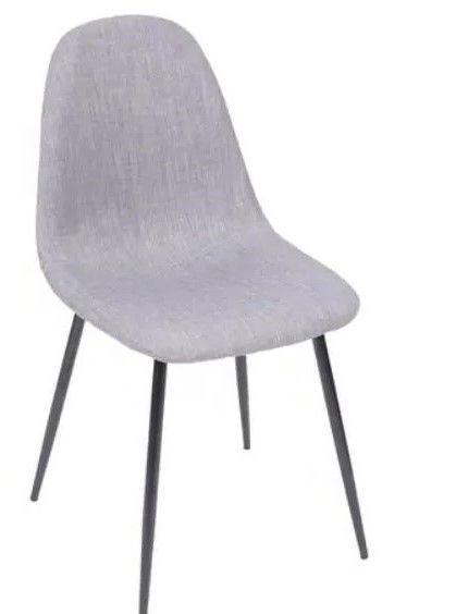 Cadeira Charla Linho Base Metal Preta OR Design