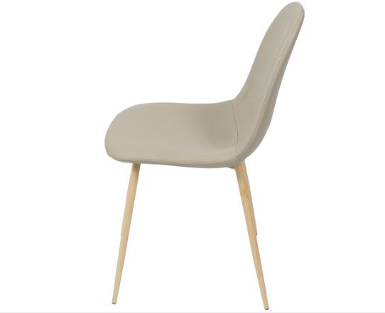 Cadeira Charla PU Base Clara OR Design