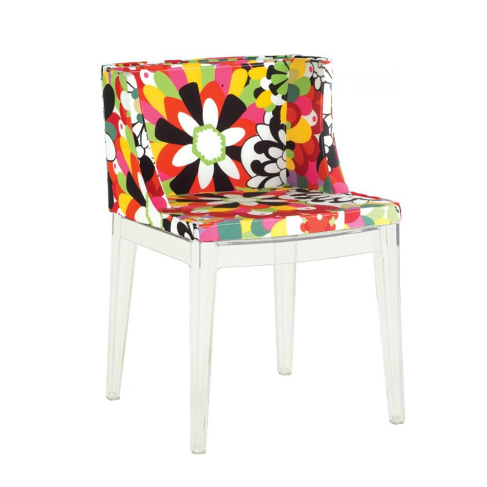 Cadeira Christie Estampas Florais Base Policarbonato Rivatti