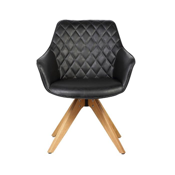 Cadeira Cintia PU Vintage Base Madeira Rivatti