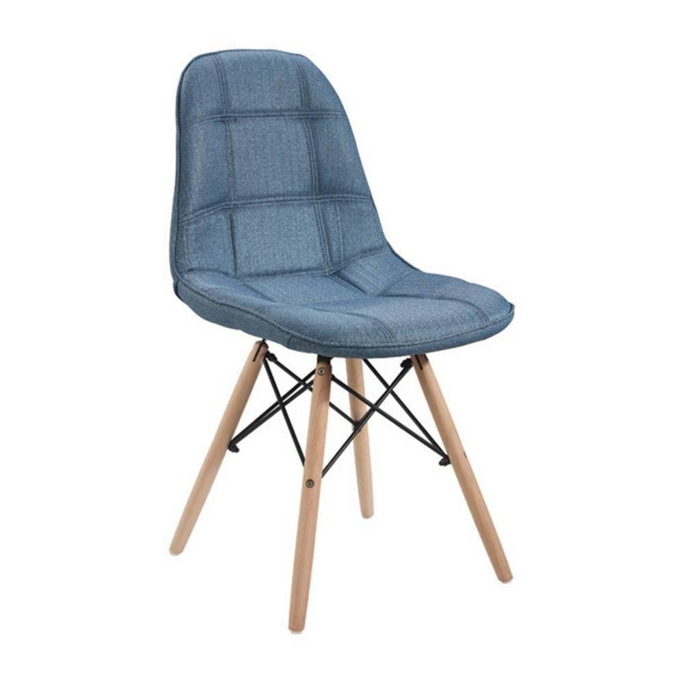 Cadeira DKR Botonê Linho Base Madeira Clara OR Design