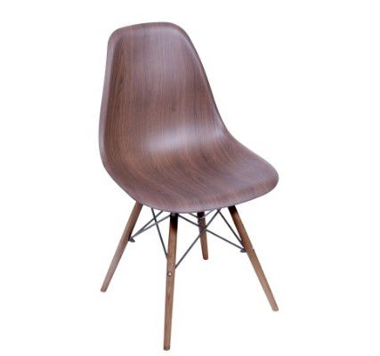 Cadeira DKR Wood Base Madeira Escura OR Design