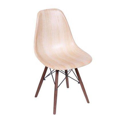 Cadeira DKR Wood Base Madeira Escura OR Design