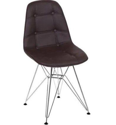 Cadeira Eames Botonê Base Cromada OR Design