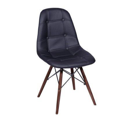 Cadeira Eames Botonê Base Madeira Escura OR Design