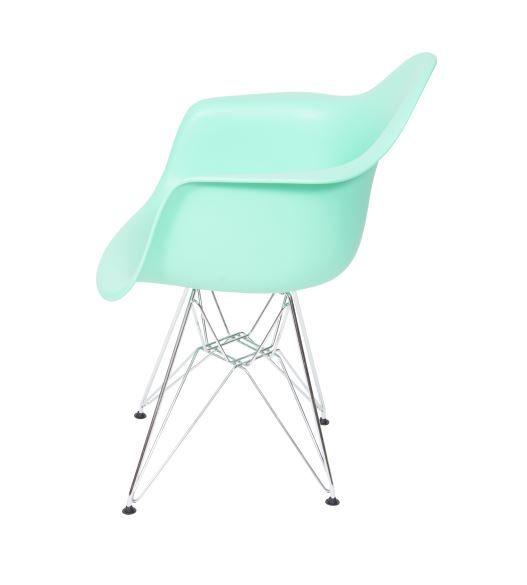 Cadeira Eames Com Braço Base Cromada OR Design