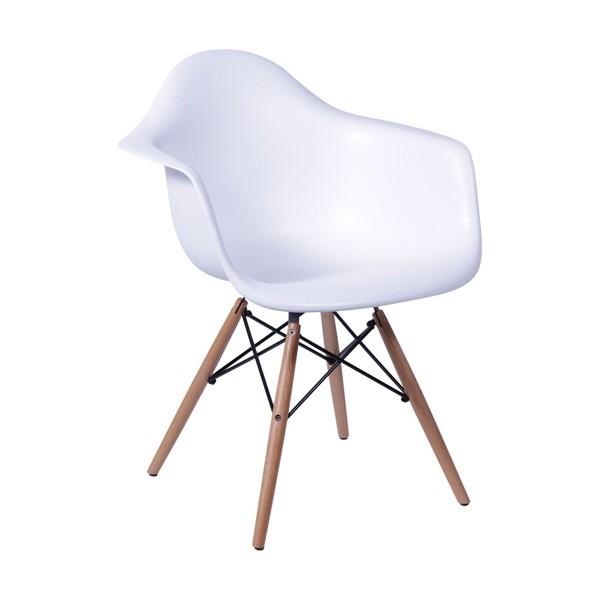 Cadeira Eames Com Braço Base Madeira OR Design