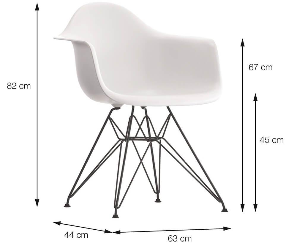 Cadeira Eames Com Braço Patchwork Base Cromada OR Design