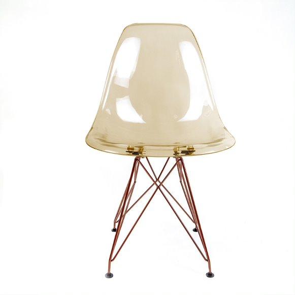 Cadeira Eames PC Base Aço cor Cobre