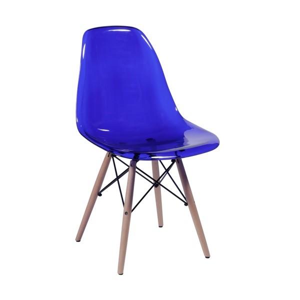 Cadeira Eames Policarbonato Base Madeira OR Design
