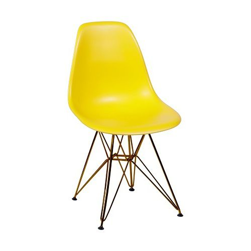 Cadeira Eames Polipropileno Base Cobre OR Design