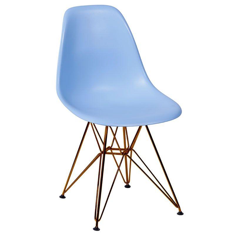 Cadeira Eames Polipropileno Base Cobre OR Design