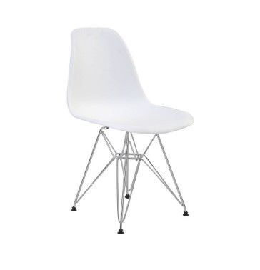Cadeira Eames Polipropileno Base Cromada OR Design