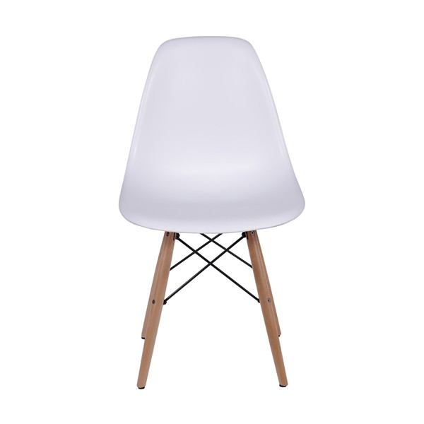 Cadeira Eames Polipropileno Base Madeira OR Design