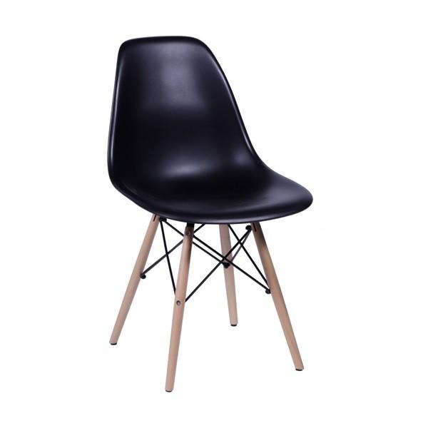 Cadeira Eames Polipropileno Base Madeira OR Design