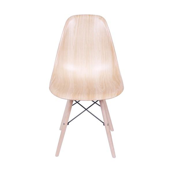 """Cadeira Eames Polipropileno """"Madeira"""" Base Madeira OR Design"""