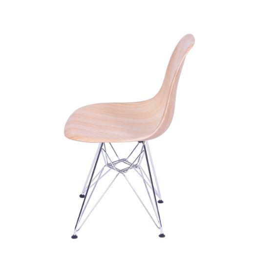 Cadeira DKR Wood Base Metal OR Design