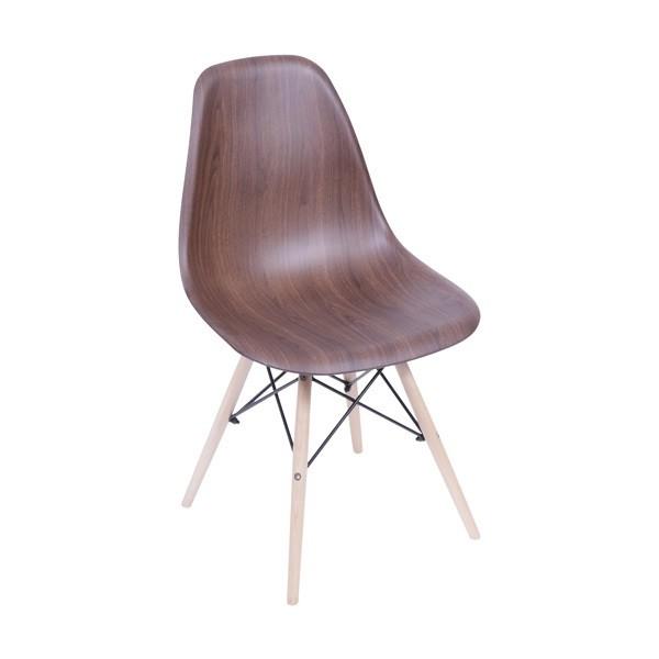 Cadeira DKR Wood Base Madeira OR Design