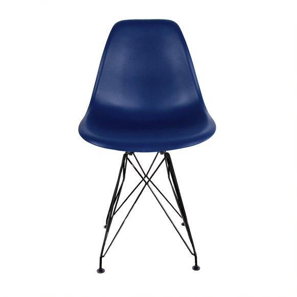 Cadeira Eames PP Base Aço cor Preto