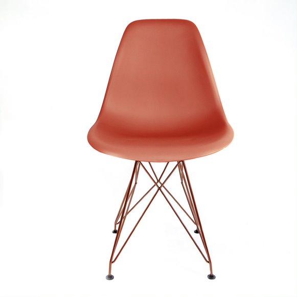 Cadeira Eames PP Base Aço cor Cobre