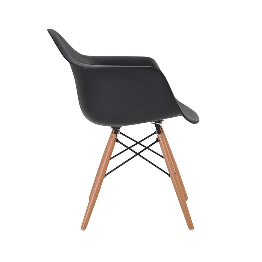 Cadeira Eiffel Com Braço Base Madeira Rivatti
