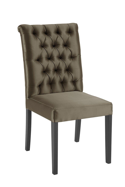 Cadeira Eli Dourada Tecido Cetim DAF