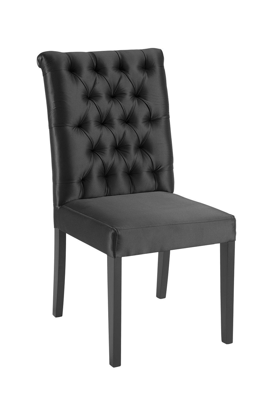 Cadeira Eli Preta Tecido Cetim DAF