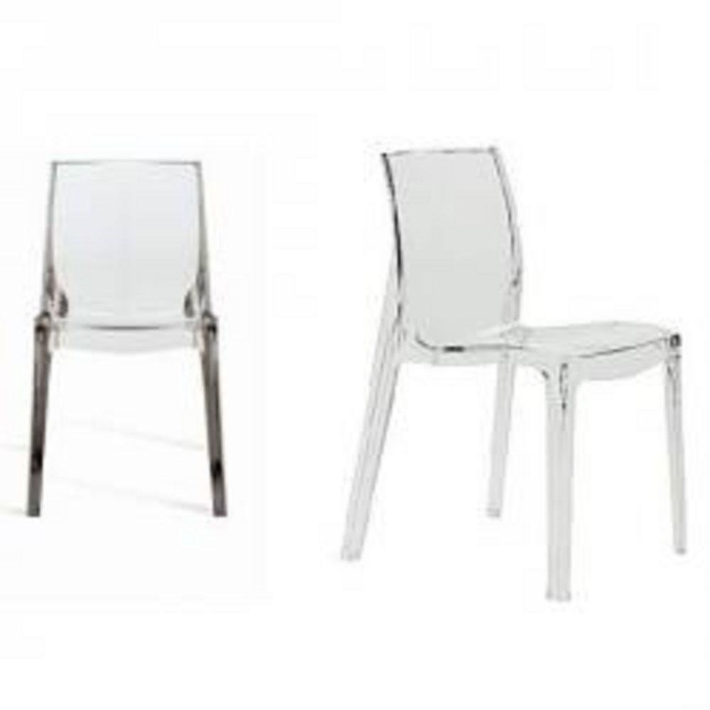 Cadeira Femme Fatale Transparente Or Design