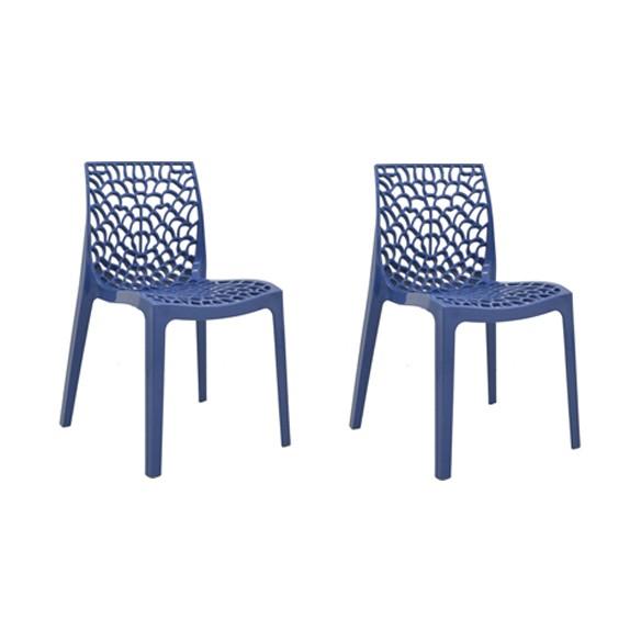 Cadeira Gruvyer Polipropileno Alto Brilho Rivatti 2 Und
