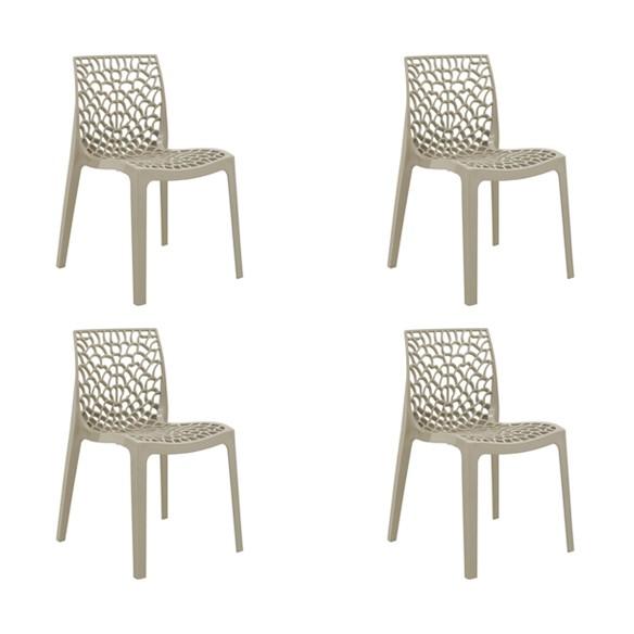 Cadeira Gruvyer Polipropileno Alto Brilho Rivatti 4 Und