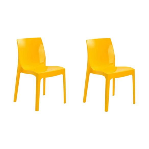 Cadeira Ice Polipropileno Alto Brilho Rivatti 2 Und