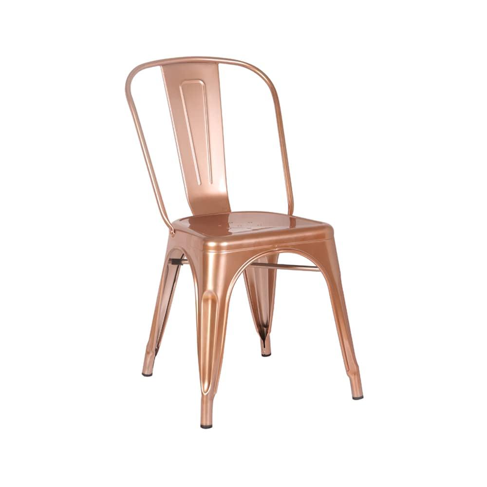 Cadeira Iron Aço Cobre Rivatti