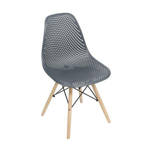Cadeira Colmeia Base Madeira OR Design