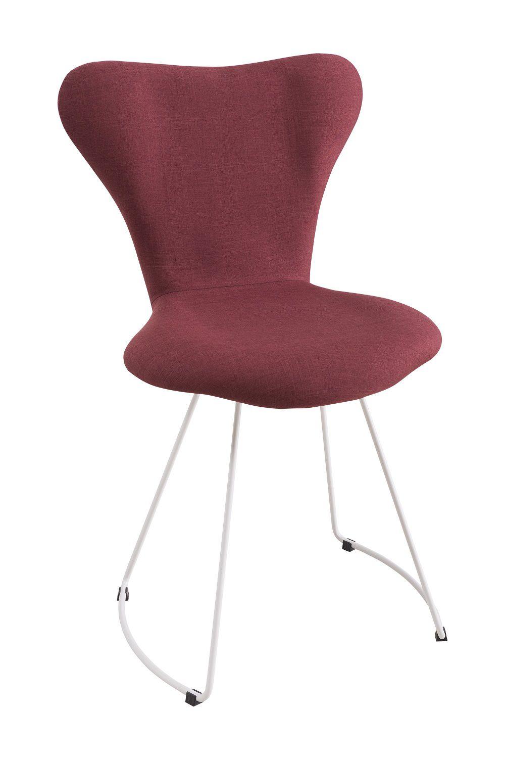 Cadeira Jacobsen Aço Marsala Tecido Linho DAF