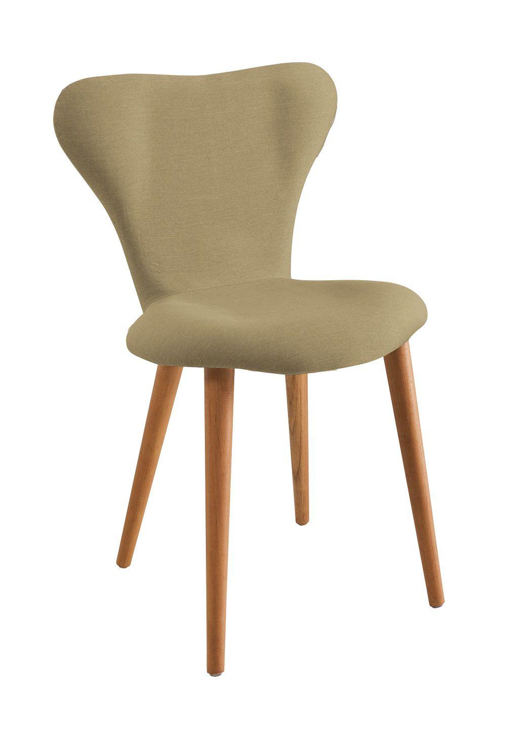 Cadeira Jacobsen  Bege Tecido Linho DAF