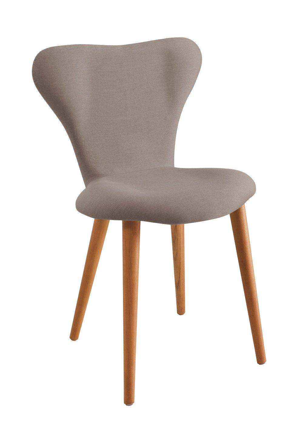 Cadeira Jacobsen  Cinza Tecido Linho DAF