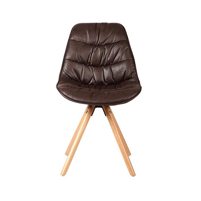 Cadeira Luci PU Base Madeira Rivatti
