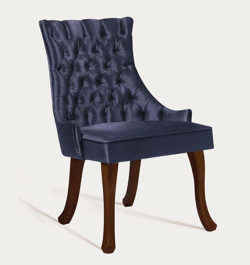 Cadeira Luis XV Azulão Tecido Linhão DAF