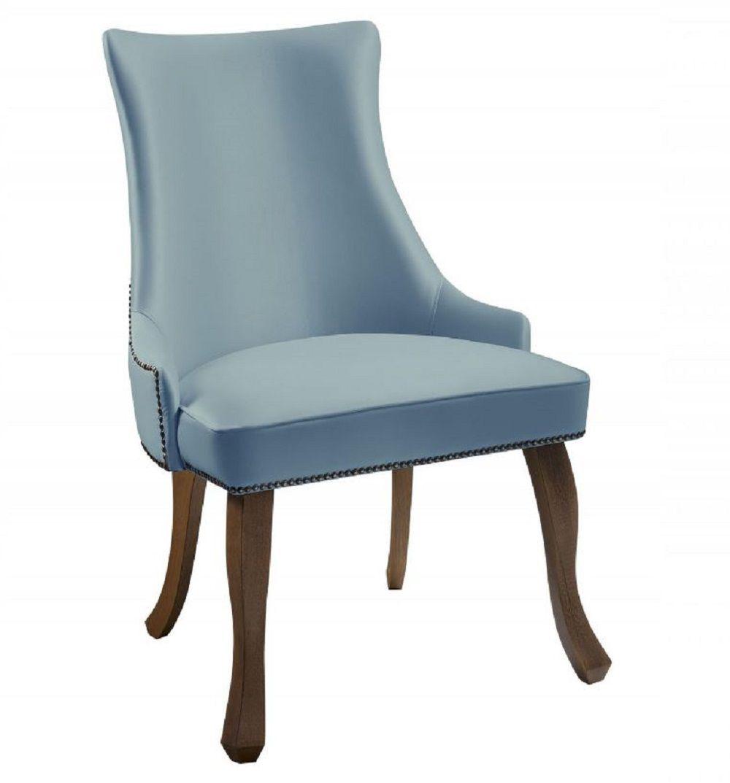 Cadeira Luis XVI Azul Esverdeado Tecido Veludo DAF